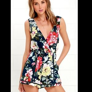 MINKPINK Nothing Like the Wild Floral Romper XS